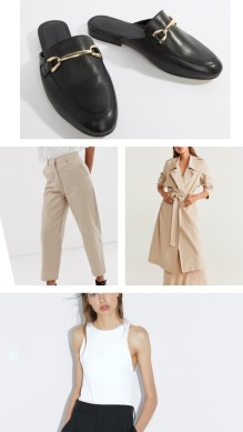 trench with tailored trousers